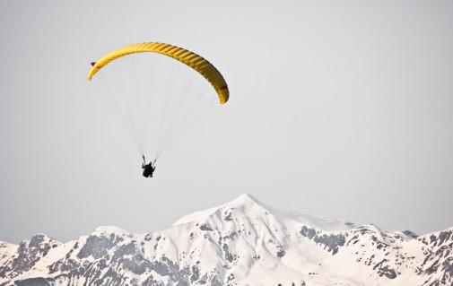 parapente montagne hiver