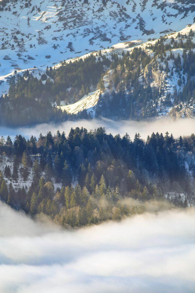 Le massif de la Chartreuse sous la neige
